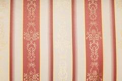 Matéria têxtil retro vermelha Fotos de Stock