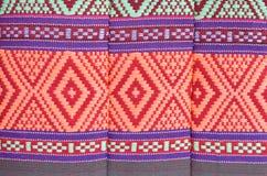 Matéria têxtil tailandesa do nativo do estilo Fotografia de Stock Royalty Free