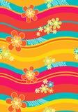 Matéria têxtil Teste-Floral Fotografia de Stock