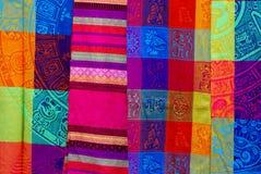 Matéria têxtil tradicional mexicana imagens de stock