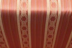 matéria têxtil vermelha da tela do vintage Foto de Stock