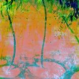 Matéria têxtil vibrante futurista do fundo do Grunge da aquarela do gotejamento Imagens de Stock