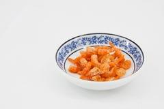 Matérias primas secadas do camarão Fotografia de Stock