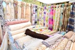 Matérias têxteis coloridas Fotografia de Stock Royalty Free