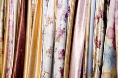 Matérias têxteis coloridas Foto de Stock