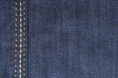 Matérias têxteis das calças de brim Foto de Stock Royalty Free