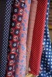 Matérias têxteis patrióticas - vermelhas, brancas, & azul Foto de Stock Royalty Free