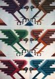 Matérias têxteis peruanas coloridas Fotografia de Stock