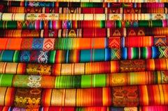 Matérias têxteis tradicionais Fotografia de Stock Royalty Free