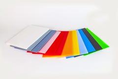 Matériau d'emballage dans différentes couleurs Images stock