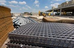 Matériau de construction au chantier image stock