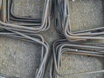Matériau de construction de barres d'acier de fer Images stock