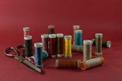 Matériau de couture Photographie stock libre de droits