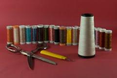 Matériau de couture Photographie stock