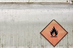 Matériau inflammable Images libres de droits