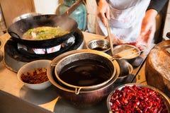 Matériaux chinois de production alimentaire Image libre de droits