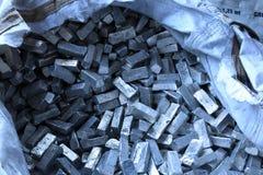 Matériaux crus en métal Images libres de droits