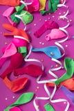 Matériaux décoratifs de composition en fond de fête pour la célébration et la décoration Photos stock