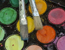 Matériaux d'artistes Photo stock