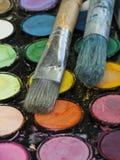 Matériaux d'artistes Image libre de droits