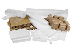 Matériaux d'emballage d'isolement photo stock
