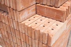 Matériaux de brique rouge pour la construction Photographie stock