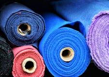 Matériaux de Colorfull sur des petits pains photographie stock