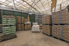 Matériaux de construction d'entrepôt Images stock