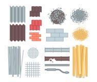 Matériaux de construction - ensemble d'éléments modernes de vecteur Photo libre de droits