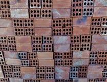 Matériaux de construction de fond de briques Photographie stock