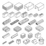 Matériaux de construction réglés Image libre de droits
