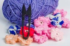 Matériaux de crochet Photographie stock
