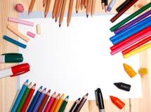 Matériaux de dessin Photo stock