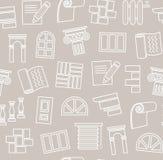 Matériaux de finissage, construction, modèle sans couture, dessin d'ensemble, gris, vecteur illustration libre de droits