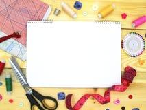 Matériaux et outils pour la couture photo libre de droits