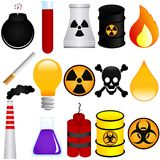 Matériaux explosifs Images stock