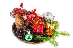 Matériaux naturels pour des métiers de Noël image stock