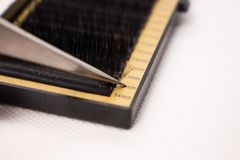Matériaux pour l'extension de cil Brosses, accessoires pour des prolongements de cil photographie stock