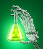 Matériaux radioactifs Photo stock