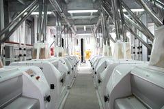 Matériel électrique industriel agricole Moulin de grain image libre de droits