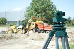 Matériel étudiant au chantier de construction photographie stock libre de droits