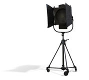 Matériel d'éclairage de projecteur de studio d'isolement sur le blanc Photos stock