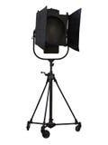 Matériel d'éclairage de projecteur de studio d'isolement sur le blanc Photographie stock libre de droits