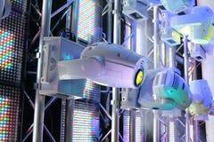 Matériel d'éclairage pour des clubs et des salles de concert Images libres de droits