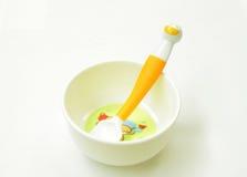 Matériel d'aliment pour bébé Image stock