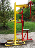 matériel d'exercice en stationnement public Image libre de droits