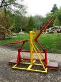 matériel d'exercice en stationnement public Photo stock