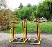 matériel d'exercice en stationnement public Photos libres de droits