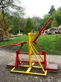 matériel d'exercice en stationnement public Image stock