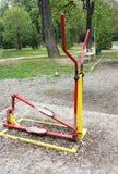 matériel d'exercice en stationnement public Photo libre de droits